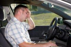 Uomo in automobile immagini stock libere da diritti