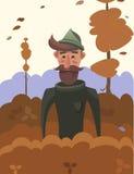 Uomo in autunno Fotografia Stock Libera da Diritti
