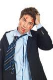Uomo baciato disturbato Fotografia Stock