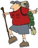 Uomo Backpacking illustrazione di stock
