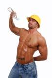 Uomo bagnato Fotografia Stock Libera da Diritti
