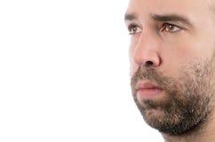 Uomo barbuto fotografie stock