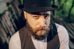 Uomo barbuto Immagine Stock