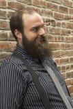 Uomo barbuto dello strambo Immagini Stock Libere da Diritti