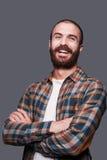 Uomo barbuto felice Fotografia Stock