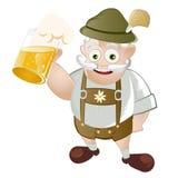 Uomo bavarese con birra Immagini Stock