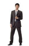Uomo bello asiatico di affari Fotografie Stock Libere da Diritti
