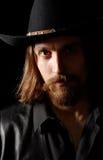 Uomo bello in cappello Fotografie Stock