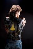Uomo bello con bodyart Fotografia Stock Libera da Diritti