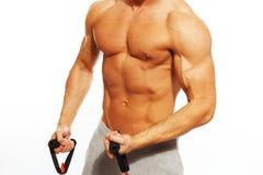 Uomo bello con l'ente muscolare Immagini Stock Libere da Diritti