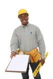 Uomo bello della costruzione Fotografia Stock Libera da Diritti