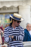 Uomo bello delle gondoliere Fotografia Stock Libera da Diritti