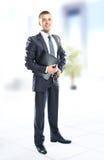 Uomo bello di affari Fotografie Stock