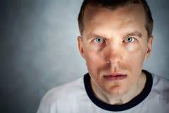 Uomo bello unico con il forte carattere Fotografie Stock Libere da Diritti