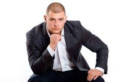 Uomo bello in vestito Fotografia Stock Libera da Diritti