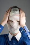 Uomo bendato Fotografie Stock Libere da Diritti