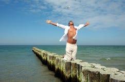 Uomo bianco dell'oceano Fotografie Stock Libere da Diritti