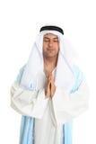 Uomo biblico nella preghiera Fotografie Stock Libere da Diritti