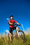 Uomo Biking Fotografia Stock Libera da Diritti