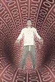Uomo binario Fotografia Stock Libera da Diritti