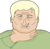 Uomo biondo malato Immagini Stock