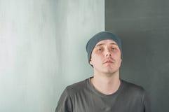Uomo brutale di fotografia dello studio Fotografia Stock Libera da Diritti
