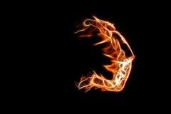 Uomo Burning Immagine Stock