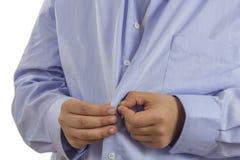 Uomo in camicia Fotografia Stock Libera da Diritti