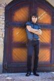 Uomo in camicia blu Fotografie Stock Libere da Diritti