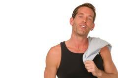 Uomo in camicia del muscolo Fotografia Stock Libera da Diritti
