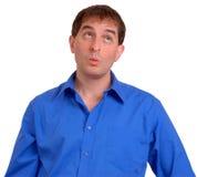 Uomo in camicia di vestito blu 1 immagini stock libere da diritti