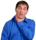 Uomo in camicia di vestito blu 13 immagini stock libere da diritti