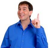 Uomo in camicia di vestito blu 9 fotografia stock libera da diritti