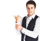 Uomo in camicia e maglia Fotografia Stock