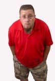 Uomo in camicia rossa fotografia stock libera da diritti