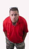 Uomo in camicia rossa immagini stock libere da diritti