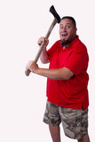 Uomo in camicia rossa fotografia stock