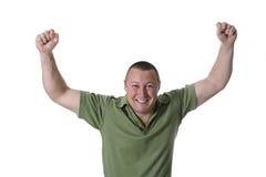 Uomo in camicia verde Fotografia Stock Libera da Diritti