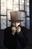 Uomo in cappello Fotografia Stock Libera da Diritti