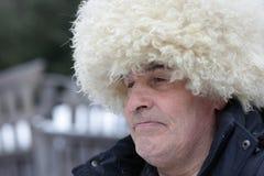 Uomo in cappello caucasico Fotografia Stock Libera da Diritti