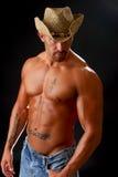 Uomo in cappello del cowboy Fotografia Stock Libera da Diritti