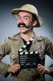 Uomo in cappello di safari Fotografia Stock