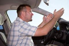 Uomo casuale in automobile Immagini Stock Libere da Diritti