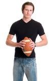Uomo casuale con calcio Fotografia Stock Libera da Diritti