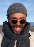 Uomo casuale dell'afroamericano Fotografia Stock