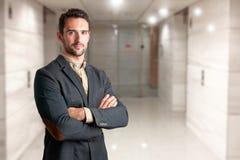 Uomo casuale di affari Fotografie Stock