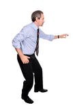 Uomo casuale di affari che cammina con prudenza Immagine Stock Libera da Diritti