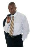 Uomo casuale di affari in vestito nero fotografia stock