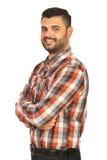 Uomo casuale felice di affari Fotografia Stock