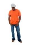 Uomo casuale in maglietta & in Jeans3 fotografie stock